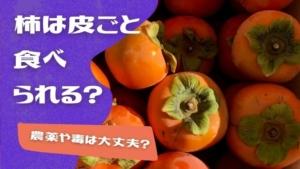 柿は皮ごと食べられる?でも農薬や毒は大丈夫?