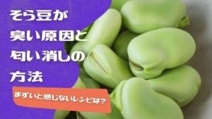 そら豆が臭い原因!匂い消しの方法やクサい・まずいと感じないレシピ