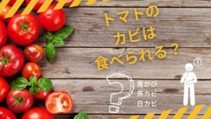 トマトの白カビ黒カビは取れば食べられる?トマトにカビが生える原因は?